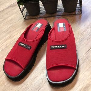 Tommy Hilfiger Red Slip Ons